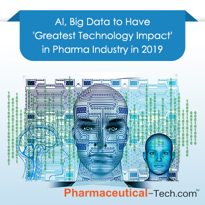 AI, Big Data to Have \'Greatest Technology Impact\' in Pharma Industry in 2019
