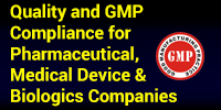 Quality and GMP Compliance for Pharmaceutical, Medical Device & Biologics Companiesv