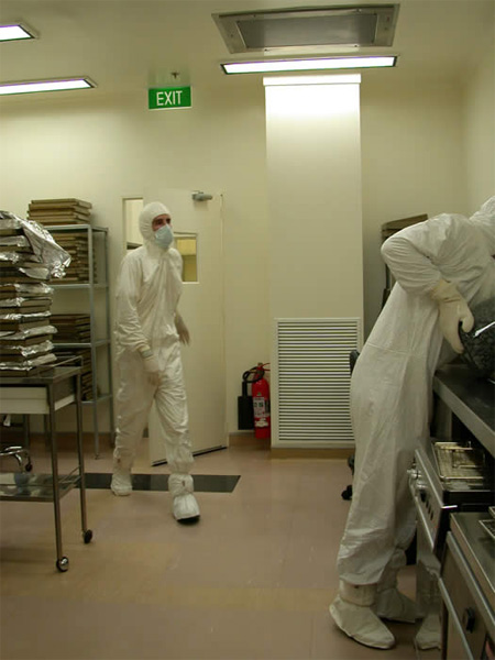 Action in clean room