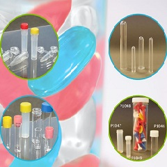 Flat Bottom Plastic Test Tubes